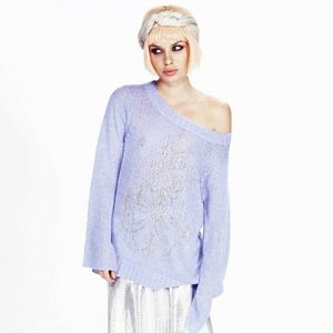 Wildfox Couture Rare Lavender Chandelier Pullover